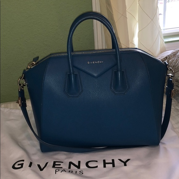Givenchy Handbags - Givenchy Antigona large in beautiful blue color. cb94fd6f17